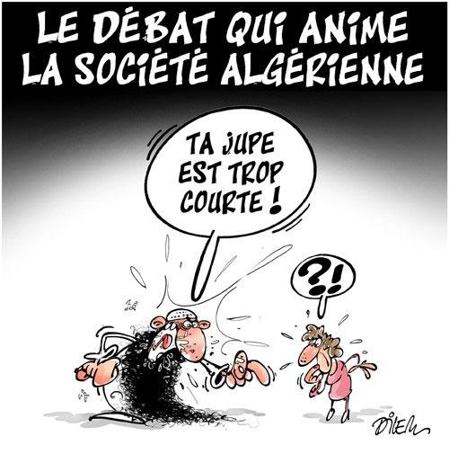 Le débat qui anime la société algérienne - Dilem - Liberté - Gagdz.com