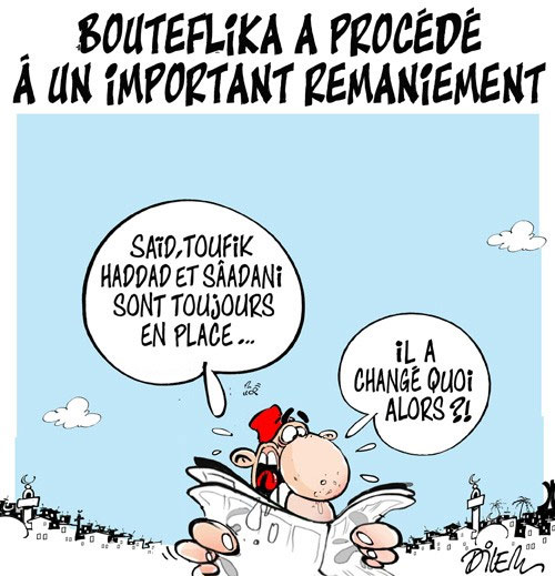 Bouteflika a procédé à un important remaniement - Dilem - Liberté - Gagdz.com