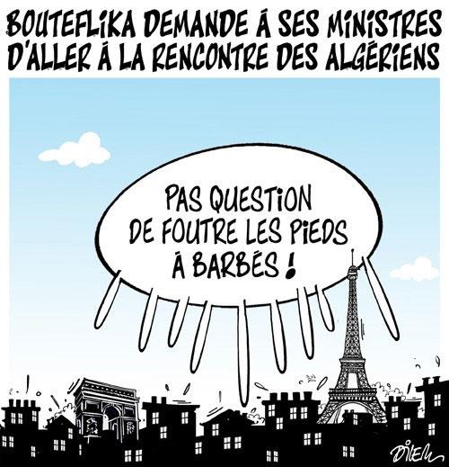Bouteflika demande à ses ministres d'aller à la rencontre des algériens - Dilem - Liberté - Gagdz.com