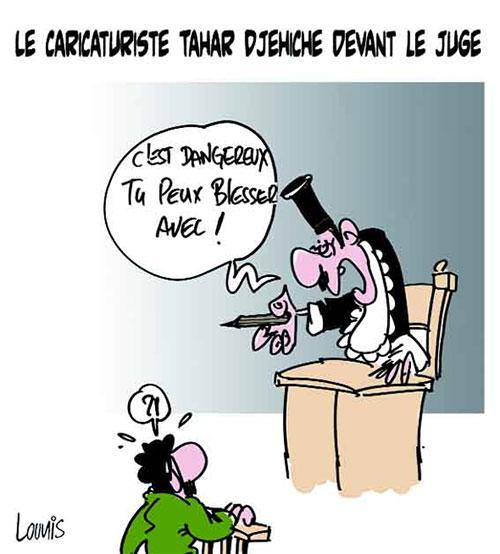 Le caricaturiste Tahar Djehiche devant le juge - devant - Gagdz.com