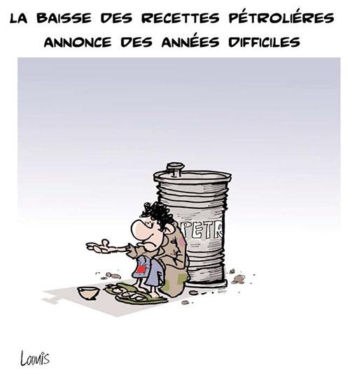 La baisse des recettes pétrolières annonce des années difficiles - Lounis Le jour d'Algérie - Gagdz.com