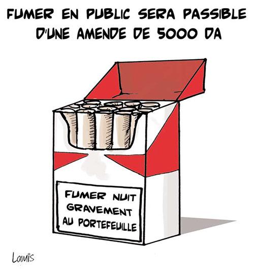 Fumer en public sera passible d'une amende de 5000 da - Lounis Le jour d'Algérie - Gagdz.com