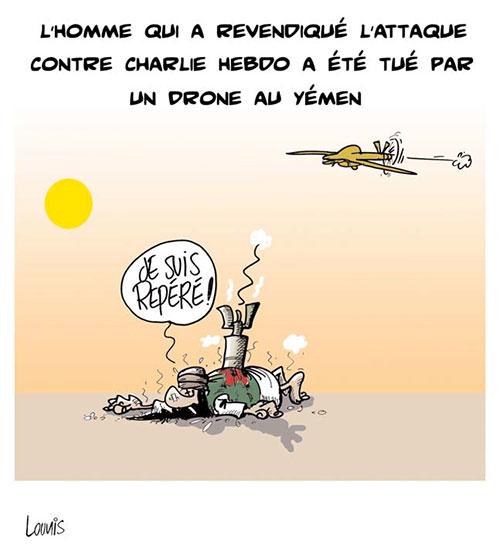 L'homme qui a revendiqué l'attaque contre CHarlie Hebdo a été tué par un drone au Yémen - Lounis Le jour d'Algérie - Gagdz.com