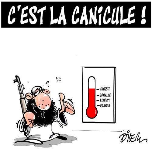 C'est la canicule - Dilem - Liberté - Gagdz.com