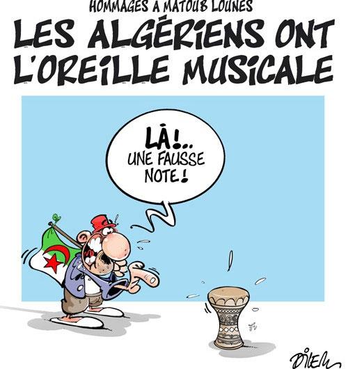 Hommages à Matoub Lounes: Les Algériens ont l'oreille musicale - Dilem - Liberté - Gagdz.com