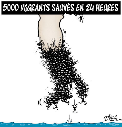 5000 migrants sauvés en 24 heures - Dilem - Liberté - Gagdz.com
