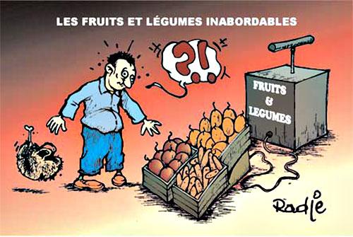Les fruits et légumes inabordables - Ghir Hak - Les Débats - Gagdz.com