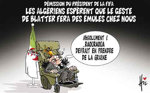 Démission du président de la Fifa: Les Algériens espèrent que le geste de Blatter fera des émules chez nous - Le Hic - El Watan - Gagdz.com