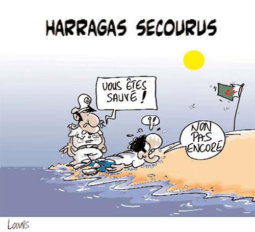 Harragas secourus - Lounis Le jour d'Algérie - Gagdz.com