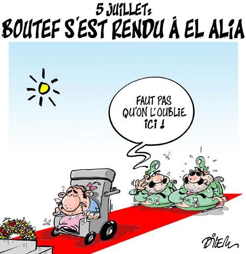 5 juillet: Boutef s'est rendu à El Alia - Dilem - Liberté - Gagdz.com