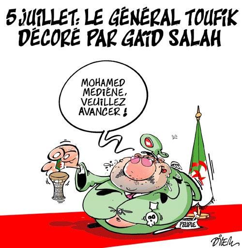 5 juillet: Le général Toufik décoré par Gaïd Salah - Dilem - Liberté - Gagdz.com