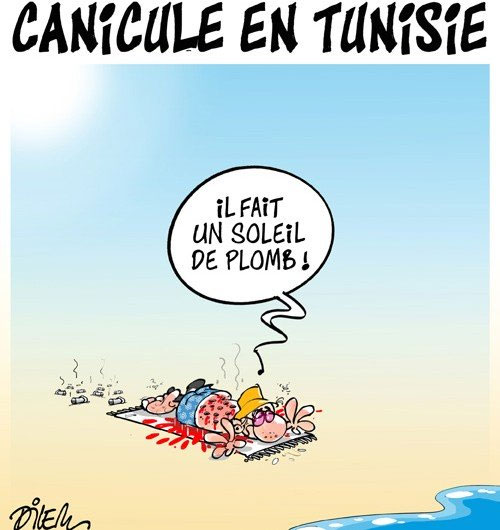 Canicule en Tunisie - Dilem - Liberté - Gagdz.com