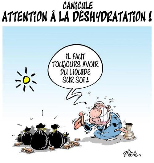 Canicule: Attention à la déshydratation - Dilem - Liberté - Gagdz.com
