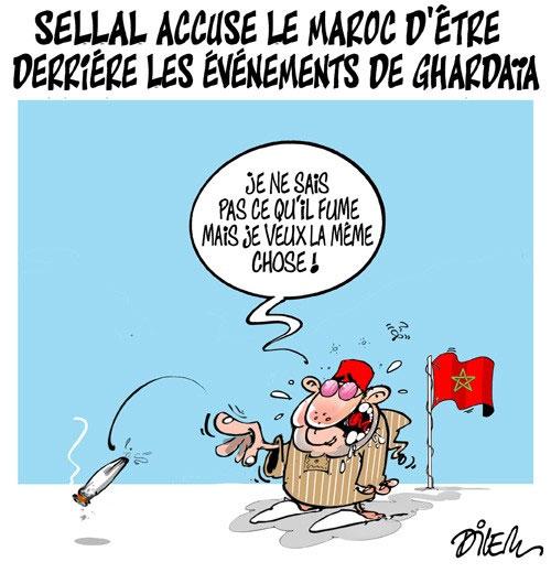Sellal accuse le Maroc d'être derrière les évènements de Ghardaïa - Dilem - Liberté - Gagdz.com