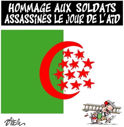 Hommage aux soldats assassinés le jour de l'aïd - Dilem - Liberté - Gagdz.com