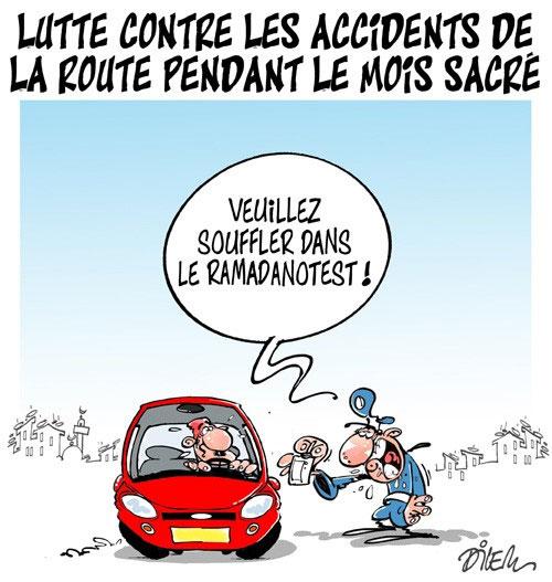 Lutte contre les accidents de la route pendant le mois sacré - Dilem - Liberté - Gagdz.com