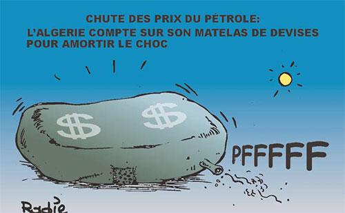 Chute des prix du pétrole: L'Algérie compte sur son matelas de devises pour amortir le choc - Ghir Hak - Les Débats - Gagdz.com