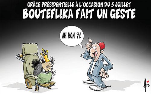 Grâce présidentielle à l'occasion du 5 juillet: Bouteflika fait un geste - Le Hic - El Watan - Gagdz.com