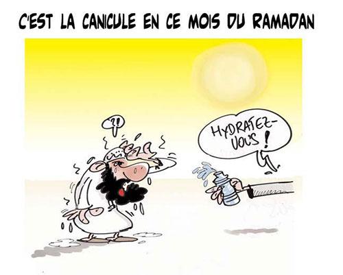 C'est la canicule en ce mois du ramadan - Lounis Le jour d'Algérie - Gagdz.com
