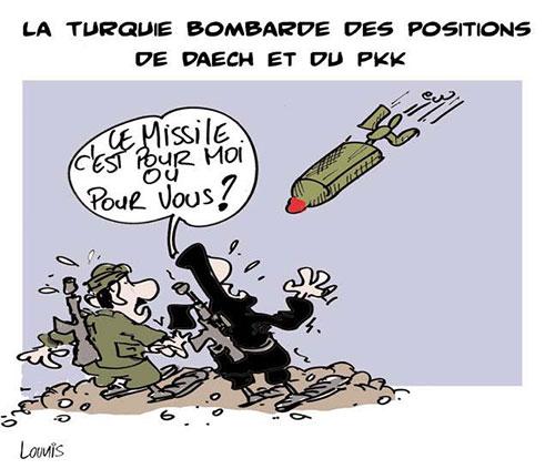 La Turquie bombarde des positions de daech et du pkk - Bombardement - Gagdz.com