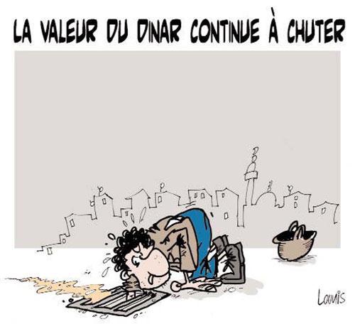 La valeur du dinar continue à chuter - Lounis Le jour d'Algérie - Gagdz.com