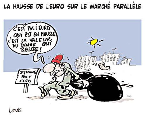 La hausse de l'euro sur le marché parallèle - Lounis Le jour d'Algérie - Gagdz.com
