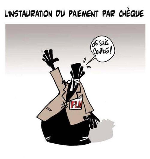 L'instauration du paiement par chèque - Lounis Le jour d'Algérie - Gagdz.com