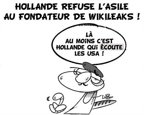 Hollande refuse l'asile au fondateur de wikileaks - refuse - Gagdz.com