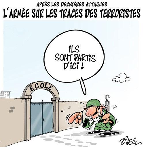 Après les dernières attaques: L'armée sur les traces des terroristes - Dilem - Liberté - Gagdz.com