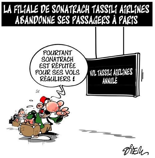 La filiale de sonatrach Tassili airlines abandonne ses passagers à Paris - Sonatrach - Gagdz.com