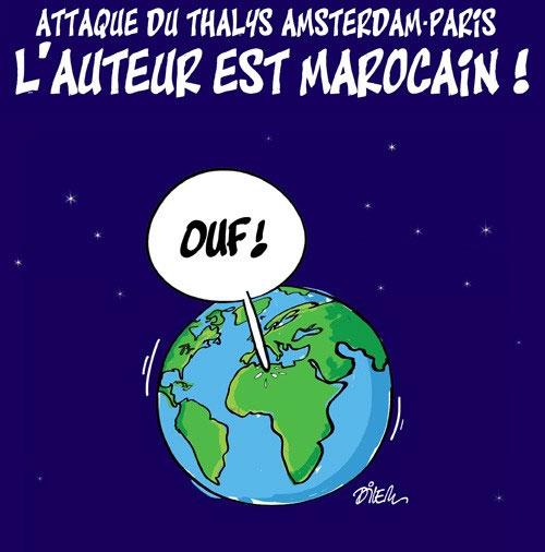 Attaque du thalys Amsterdam-Paris: L'auteur est marocain - Dilem - Liberté - Gagdz.com