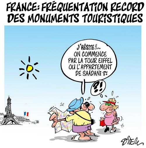 France: Fréquentation record des monuments touristiques - Dilem - Liberté - Gagdz.com