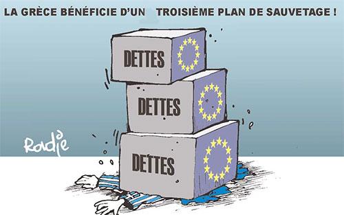 La Grèce bénificie d'un tropisième plan de sauvetage - Ghir Hak - Les Débats - Gagdz.com