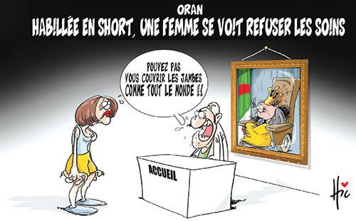 Oran: Habillée en short, une femme se voit refuser les soins - Le Hic - El Watan - Gagdz.com