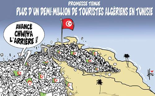 Promesse tenue: Plus d'un demi-million de touristes algériens en Tunisie - Le Hic - El Watan - Gagdz.com