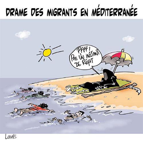 Drame des migrants en méditerranée - Lounis Le jour d'Algérie - Gagdz.com