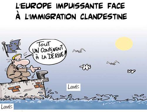 L'Europe impuissante face à l'immigration clandestine - Lounis Le jour d'Algérie - Gagdz.com