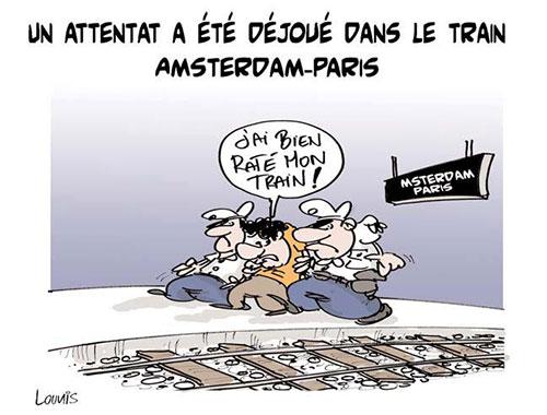 Un attentat a été déjoué dans le train Amsterdam-Paris - Lounis Le jour d'Algérie - Gagdz.com