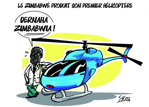 Le Zimbabwé produit sont premier hélicoptère - Sidou - Gagdz.com