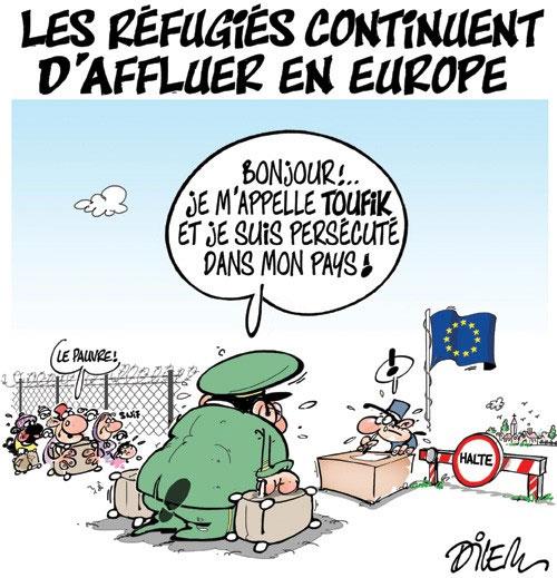 Les réfugiés continuent d'affluer en Europe - Dilem - Liberté - Gagdz.com