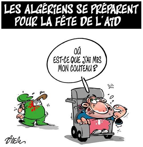 Les Algériens se préparent pour la fête de l'aid - Dilem - Liberté - Gagdz.com