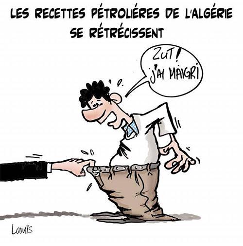 Les recettes pétroliéres de l'Algérie se rétrécissent - Lounis Le jour d'Algérie - Gagdz.com