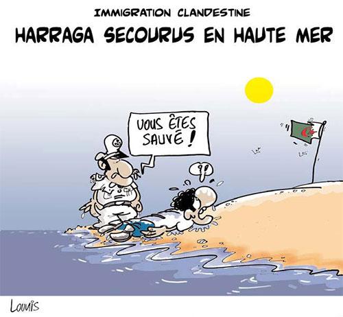 Immigration clandestine: Harraga secourus en haute mer - immigration - Gagdz.com