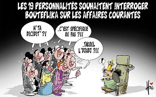 Les 16 personnalités souhaitent interroger Bouteflika sur les affaires courantes - Le Hic - El Watan - Gagdz.com