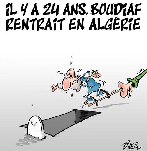 Il y a 24 ans Boudiaf rentrait en Algérie - Dilem - Liberté - Gagdz.com