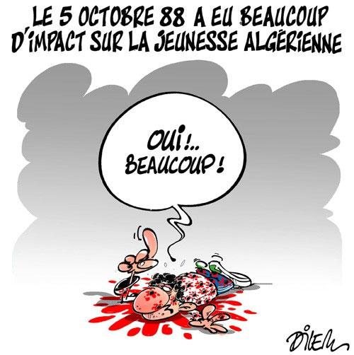 Le 5 octobre 88 a eu beaucoup d'impact sur la jeunesse algérienne - Dilem - Liberté - Gagdz.com