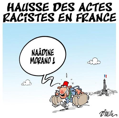 Hausse des actes racistes en France - Dilem - Liberté - Gagdz.com