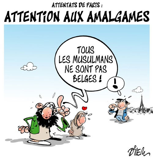 Attentats de Paris: Attention aux amalgames - Dilem - Liberté - Gagdz.com