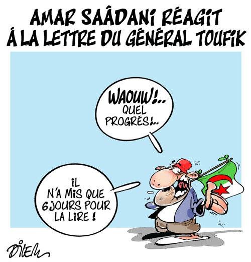 Amar Saâdani réagit à la lettre du général Toufik - Dilem - Liberté - Gagdz.com