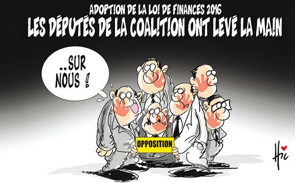 Adoption de la loi de finances 2016; Les députés de la coalition ont levé la main - Le Hic - El Watan - Gagdz.com